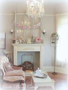 Bellas Rose Cottage: My Valentine's Day Mantle...
