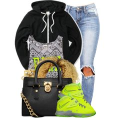 A fashion look from November 2014 featuring fleece hoodie, aztec print tank top and straight jeans. Browse and shop related looks.