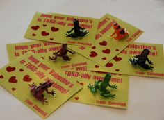 TOAD-ally Awesome Valentines -- this links to 30 free valentine exchange cards. There are so really cute ideas here.