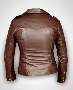 Brown leather jacket women leather jacket  ladies by Rubyleather, $99.00