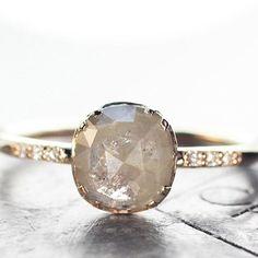 1.5 carat grey diamond ring. chincharmaloney.com