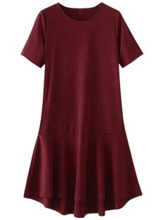 9f72a54bac95c1 High Low Ruffle Hem Dress  Dresses  2018  Fashion  Womens  Women