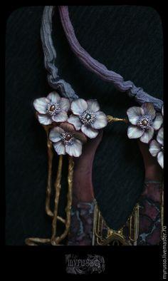Купить Aliquam Helleborus - фиолетовый, лиловый, Арт деко, арт нуво, Морозник, цветы, модерн