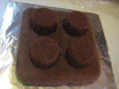 DIY LEGO cake, Sheet cake with cupcakes on top