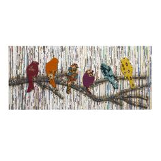 Featuring a unique weaving technique of repurposed newsprint and fabulous batik fabric birds, the Camara wall art is truly original.
