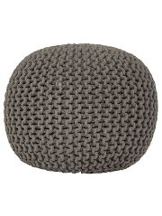George Home Charcoal Knitted Pouffe