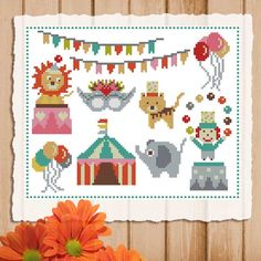 Mini samplers are wonderful easy projects. You can stitch each element individually or create your own sampler!