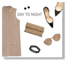 """Day To Night Shirtdress"" by via-m ❤ liked on Polyvore"