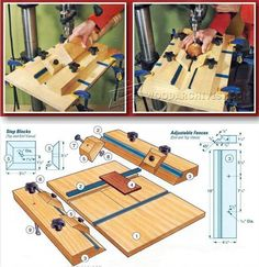 Cylindrical and Round Object Drilling Jig - Drill Press Tips, Jigs and Fixtures   WoodArchivist.com