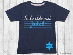 T-Shirts - T-Shirt Einschulung *SCHULKIND* mit Namen 2016 - ein Designerstück von rotekirschen bei DaWanda