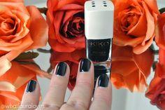 Kiko Poker Nail Lacquer in 6 Slick Bluenoir Review here: http://www.whatlauralovesuk.com/2014/11/kiko-daring-game-fall-collection-review.html   #kiko #makeup #autumn #winter #inspiration #eyeliner #winged #liner #eyeshadow #lipliner #lipstick #berry #lips #wine #nailpolish