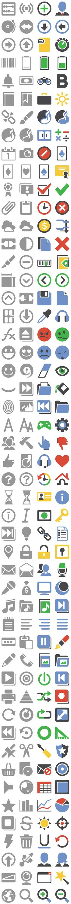 204 Google Plus interface icons, including several sizes. (pixel perfect) - Design Shock