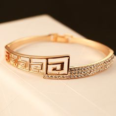 Cheap bangles for small wrists, Buy Quality bangle gold directly from China bangle bracelet Suppliers: Fashion Women Pearl Cuff Bracelet Factory Wholesale for womenUSD Big Brand Europe and the United States f Gold Ring Designs, Gold Bangles Design, Gold Earrings Designs, Gold Jewellery Design, Gold Jewelry, Plain Gold Bangles, Gold Bangles For Women, Gold Bracelet For Women, Stylish Jewelry