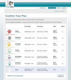 Check Dog pricing table ideas #pricing #pricingtable #design via @lizardwijanarko www.ahlidesain.com