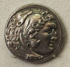 Aléxandros ho Mégas           - Silver tetradrachm of Alexander the Great, circa...