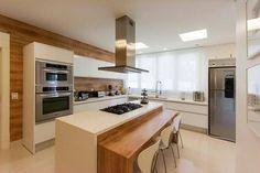 Open Plan Kitchen Living Room, Kitchen Room Design, Open Kitchen, Kitchen Interior, Kitchen Decor, American Kitchen Design, Cuisines Design, Home Renovation, Home Deco
