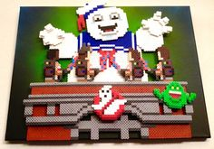 """Who ya gonna call?"" Ghostbusters Perler Bead Pixel Art by Kyle McCoy @ PixelArtShop.com"