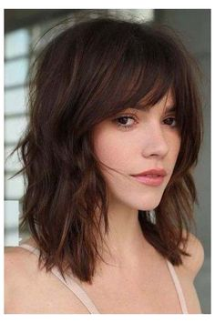 Medium Length Hair With Layers, Bangs With Medium Hair, Medium Layered, Long Layered, Shoulder Length Hair With Bangs, Medium Cut, Medium Long, Shoulder Length Hair Styles For Women, Long Cut