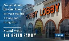 """No one should have to choose between making a living and living free.  Stand with Hobby Lobby and Conestoga Wood Specialities for religious freedom!"" ~ Alliance Defending Freedom February 12, 2014"