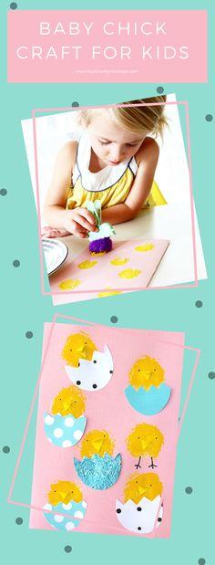 Craft for kids  – Cute Easter Card Ideas via @4cheekymonkeys