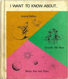 I Want to Know About... - Podendorf - Vintage Children's Neon Colorful Illustration Book 1950's $8.00