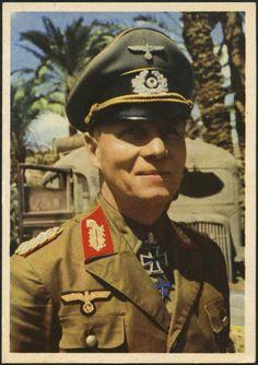 Legendary Field marshal Erwin Rommel in North Africa.