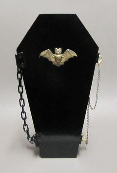 Vampire Bat Gothic Hand Bag with red and black
