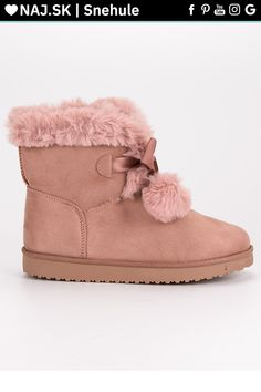 Ružové snehule s bambulkami CnB Ugg Boots, Uggs, Slippers, Adidas, Shoes, Fashion, Moda, Zapatos, Shoes Outlet