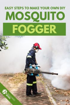 Easy step-by-step tutorial that teaches you how to make your own mosquito fogger at home so you can save money this summer and still keep away the mosquitoes. Citronella Essential Oil, Thyme Essential Oil, Natural Essential Oils, Mosquito Spray, Mosquito Repelling Plants, Diy Garden Projects, Garden Pests, Lawn And Garden, Gardening