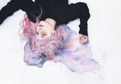pastel goth watercolors