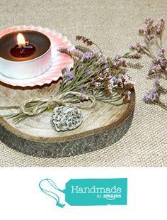 Wood tea light centerpiece rustic wedding candle holder luminary candlestick…