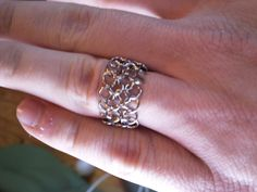 4 in 1 European Chainmaille Ring by Avelgaard on Etsy, $15.00