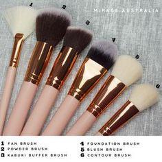 Brow Brush, Contour Brush, Makeup Brush Set, Makeup Needs, Makeup Yourself, Rose Gold