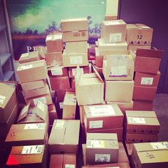 You can tell it is almost the fall season because the mailroom is out of control! #officespy