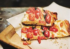Roman-Style Pizza with Roasted Cherry Tomatoes and Cheese From Bon Appétit