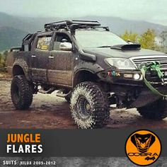 Picture 2 of 11 Toyota Hilux, Toyota 4x4, Toyota Trucks, Roof Rack Basket, Offroad Camper, Front Grill, Mitsubishi Pajero, Fender Flares, Trd