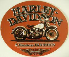 Harley-Davidson Embossed Timeless Vintage Motorcycle Tin Sign, Orange 2010781 - Home Decor Logo Harley Davidson, Harley Davidson Vintage, Harley Davidson Wallpaper, Motor Harley Davidson Cycles, Harley Davidson Chopper, Harley Davidson Motorcycles, Motos Vintage, Vintage Motorcycles, Scooters