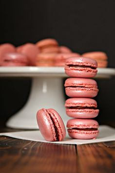 Pink Macarons for Cookies for Kids Cancer!  #helpingcookies