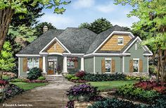 Now Available - The Eleanor 1314! Desirable features are bountiful in this small footprint home plan. #WeDesignDreams