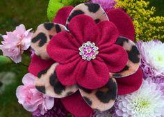 Felt Flower Corsage (Brooch)