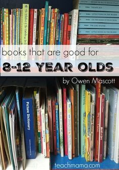 If you're looking for books that are good for kids 8-12 years olds, check out this great resource list. Raising a reader involves getting them good books to read! And this great list of books for 8-12 year olds will help you get a good library started! #teachmama #reading #reader #books #readinglist #elementary #teaching #education #literacy