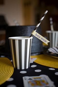 Magic Themed Birthday Party - Kara's Party Ideas - The Place for All Things Party Birthday Dinners, 3rd Birthday Parties, Birthday Ideas, Summer Birthday, Magician Party, Magic Birthday, Happy Birthday, Magic Theme, Cupcakes