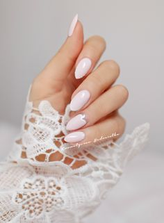 Wedding Nails-A Guide To The Perfect Manicure – NaiLovely Pretty Nail Colors, Pretty Nail Designs, Pretty Nail Art, Nail Art Designs, Soft Colors, Gel Nails At Home, Bride Nails, Wedding Nails Design, Burgundy Nails