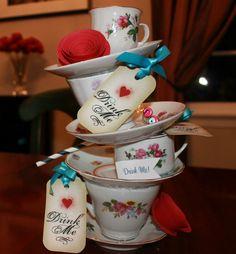 Alice in Wonderland, Tea Party, Wedding Centerpiece, Baby Shower, Bridal Shower, Birthday, Theme Party, Kids Party, Centerpiece, Decoration via Etsy