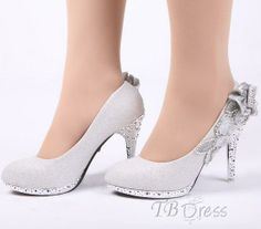 Stunning Silver Beading/appliques Wedding Shoes : Tbdress.com