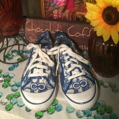 Coach Canvass Sneakers Authentic Coach Sz 8M- Blue/White- Good condition- No damage- Doles in great shape. Coach Shoes Sneakers