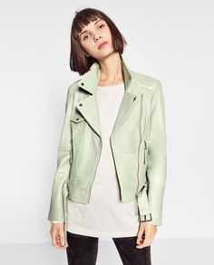 Image 2 of COLOURFUL BIKER JACKET from Zara