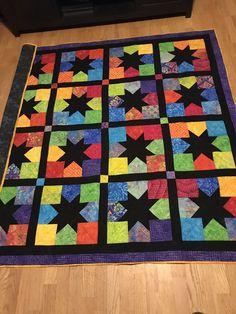 Charm star quilt