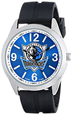 Game Time Mens NBAVARDAL Varsity Analog Display Japanese Quartz Black Watch -- Click image to review more details.