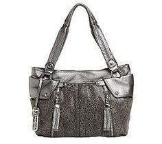B. Makowsky Glove Leather Pocket Shopper w/ Zipper Detail - QVC.com